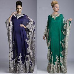 $enCountryForm.capitalKeyWord Canada - Hunter Green Long Sleeve Mother Of The Bride Dresses Jewel Neck Applique Lace Formal Dress Arabic Evening Dresses Abaya Dubai