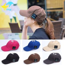 Bluetooth Beanies Canada - Bluetooth Earphone Cap for iPhone 7 Plus Beanie fashion Stereo Wireless Headphone Hat Headset Speaker Microphone Handfree samsung s6 s7 edge