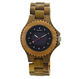 Chinese  Hot Simulation Wooden Men Solar Watches OriginalColor Watch Wood MenWristwatch Relojes Relogio Masculino for Sale ZS-074A manufacturers