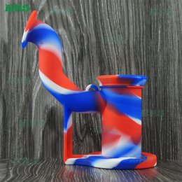 mini molds Canada - USA hot seling 19 colours for chose rig silicone dab rig molds super mini hand bubbler S-03 .