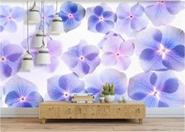 PurPle wallPaPer for bedroom walls online shopping - 3D wallpaper for walls d Non Woven silk wallpaper murals Customization backgrounds for living room Stylish beautiful hand painted purple