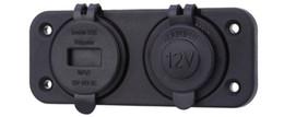 12v lighter socket adapter online shopping - C909 Z Car Waterproof Cigarette Lighter Socket V Phones GPS USB Charger Power Adapter with Voltmeter Socket