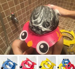 Barato Tampa De Banho De Bebê Shampoo-Baby Kids Children Safe Shampoo Bath Bathing Shower Cap Hat Wash Hair Shield
