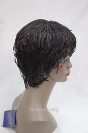 Envío libre encantador hermosa nueva Mejor Venta caliente Senegal Havana Afro African style Wig Bangs Short trenza recta Hivision en venta