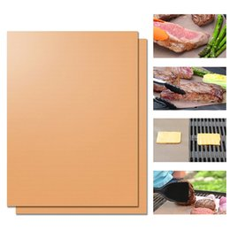 $enCountryForm.capitalKeyWord Canada - Copper Grill Mat Barbecue Grilling Liner BBQ Portable Non-stick Reusable Oven Hotplate Mats Outdoor Picnic Cooking Barbecue Tool OOA1934