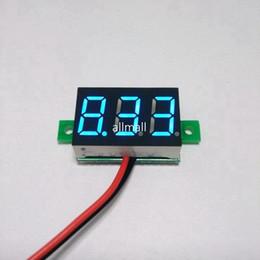 $enCountryForm.capitalKeyWord Canada - Freeshipping 20pcs lot Blue DC 3-30V led car digital watt volt voltage panel meter gauge auto voltmeter battery monitor