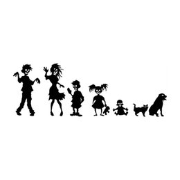 China 30.4*10.5CM Zombie Family Friendly Car Stickers Funny Vinyl Decals Covering The Body cheap funny families suppliers