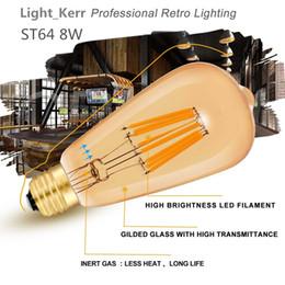 Led buLbs gLobe Lights online shopping - 8W Edison Bulb Lead Bulbsn Vintage LED Filament Light Bulb Warm White E26 Medium Base Lamp ST64 Antique Shape W Incandescent Replacement