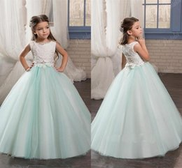 40f71dee6f2cb Cheap mint flower girl dresses online shopping - 2017 New Cheap Flower  Girls Dresses For Weddings