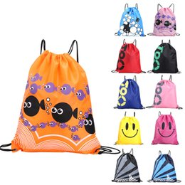 424fcc5b782f plain waterproof drawstring bag 2019 - Waterproof Bag Swimming Backpacks  Double Layer Drawstring Sport Bag Shoulder