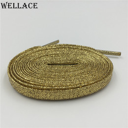 $enCountryForm.capitalKeyWord Canada - Wellace Fashion 120cm Metallic Glitter Shoelaces Flat Shoe Laces String for Sneaker Sport Shoe boots Running Shoelace
