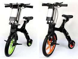 """Motor Bicycles Australia - Lightweight Bicycle E-Bike 16kg Front Wheel 18"""" Foldable Portable Chainless Electric Bike Folding Lithium Battery Brushless Motor Scooter CE"""