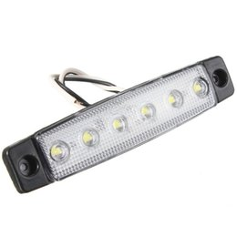 China 0.5W DC12 DC24 White blue red yellow green Highlight Truck side light 6LED 2835SMD Waterproof buses trucks trailers 1pcs JTCL229-ly suppliers