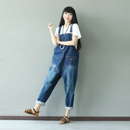 aa579b8ab12 Denim Jumpsuit Casual Rompers Womens Jumpsuit 2017 New Denim Overalls  Korean Style Hole Ladies Jumpsuits Elegant Plus Size Women s Jeans Hot