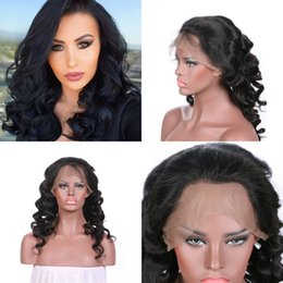 $enCountryForm.capitalKeyWord Canada - Mongolian Human Hair Wigs For Black Women Glueless Loose Wave Lace Front Wigs 130% Density Fast Shipping FDSHINE HAIR