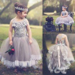 $enCountryForm.capitalKeyWord Canada - Blush Toddler Flower Girl Dress French Lace and Silk Tulle Dress For Baby Girl Blush Princess Dress Custom Holy Communion Dresses