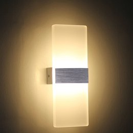 Acrylic LED Wall Sconces Light Fixture Bedroom Bedside Lamp For Bedroom,  Living Room, Balcony, Corridor, 6W, AC 85 265V, Warm White Cheap Modern  Wall Light ...
