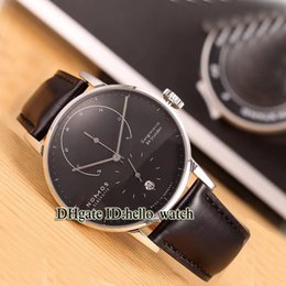 China High Quality NOMOS LAMBDA GLASHUTTE Power Reserve 931 935 Black Dial Automatic Mens Watch Leather Strap Business Casual Watches cheap power reserve casual watches suppliers