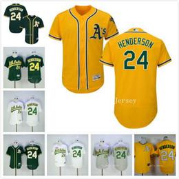 ... MLB Jersey Rickey Henderson Jersey Oakland Athletics Flexbase Baseball Jersey  Cool Base Home Yellow Green White Gray Mens Oakland Athletics Jerseys 24 ... 89257c936