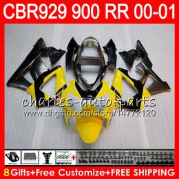 $enCountryForm.capitalKeyWord Australia - Body For HONDA CBR 929RR CBR900RR CBR929RR 00 01 CBR 900RR 67HM19 Yellow grey CBR929 RR CBR900 RR CBR 929 RR 2000 2001 Fairing kit 8Gifts
