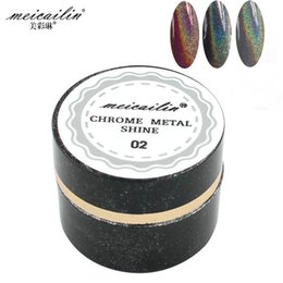 $enCountryForm.capitalKeyWord Canada - Wholesale- New 3g Laser Silver Shiny Powder Magic Mirror Powder Dust Nail Glitters DIY Nail Art Sequins Chrome Pigment Nails Glitter Powder