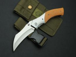 strider knives 2019 - High-end knife strider nighthawk folding high-end knife import D2steel blade,precious rosewood handle,black gift box fre