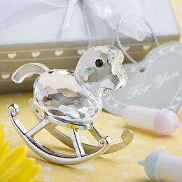 $enCountryForm.capitalKeyWord Canada - 50pcs Crystal rocking horse baby shower baptism party gift present keepsake free shipping wa2737