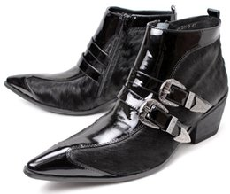 $enCountryForm.capitalKeyWord UK - 2017 new winter men boot Quality genuine leather pointed toe Real Horse Hair Men 7cm Height Inceased Men's Dress Boots