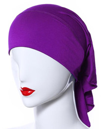 China Good Quality Inner Abaya Cap muslim jersey hijab scarf inner tube cap 20 Colors Worldwide shipping cheap jersey cotton scarf suppliers