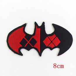 China Batman Harley Quinn Style Argyle Bat Emblem iron on patch DC Comics Joker fabric applique decoration Badge Patches cheap joker patches suppliers