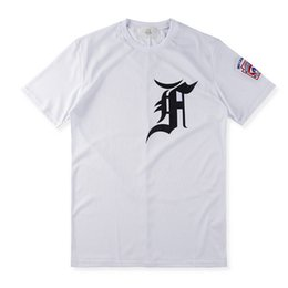 Chinese  Fashion Justin bieber fan made Fear of God Fog Hip Hop Cool Mesh Jersey Sport Tee T-Shirt Men Women baseball Short Sleeve Tshirt manufacturers