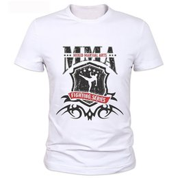 Chinese  Wholesale- Retail MMA wrestling Fight Shirt punk fans' casual t-shirts mens short sleeve milk silk t shirt Free shipping manufacturers