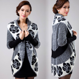 Wholesale woolen sweater women cashmere for sale - Group buy Knitted Cardigan women woolen sweater cashmere coat Hollow shawl bat cardigan women s clothing big size S18