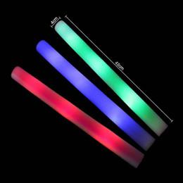 Led foam sticks online shopping - The concert lightsticks order LED light colorful sponge stick foam sticks silver bar