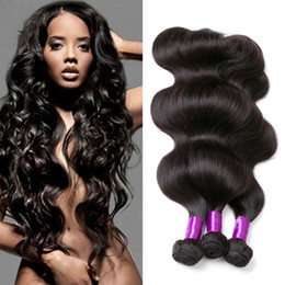 Discount best tangle hair weave Peruvian Body Wave Unprocessed Human Virgin Hair Weaves 8A Best Quality Remy Human Hair Extensions Dyeable 3pcs lot No S