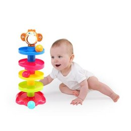 $enCountryForm.capitalKeyWord Canada - Popular Baby Toys Tower Puzzle Rolling Ball Bell Stackers Kids Toys Developmental Educational Toy Rolling Ball for Children