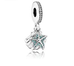 7fb59cc1bbf8 Se adapta a Pandora pulsera de plata esterlina tropical estrella de mar  cuelga los encantos de los encantos para la cadena europea del encanto de  la ...