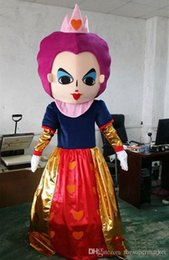 cartoon role playing costumes NZ - Alice in wonderland mascot costume red queen mascot Cartoon costume Halloween costumes for role-playing apparel party dress factory direct s