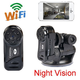 Camera pC video wireless online shopping - Wifi P2P mini IP Camera Night vision Mini DV Video recorder Wireless Surveillance Network Camera For IOS Android PC Live View MD81S