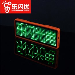 Scrolling led name tagS online shopping - led name badge name tag digital display LED sign badge Digital badge sign Scrolling Programmable Green