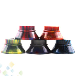 Colorful suits online shopping - Colorful Clearomizer Base Atomizer Stand Epoxy Resin Holder with Thread Screw Suit for Atomizer E Cigarette DHL Free