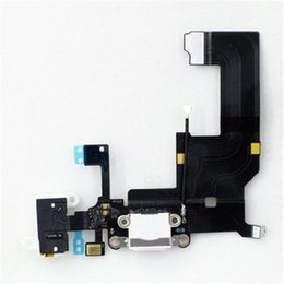dock for iphone 5s UK - Dock Connector USB Charging Port and Headphone Audio Jack Flex Cable Ribbon for iPhone 5 5s 5c 6 6 Plus Black White