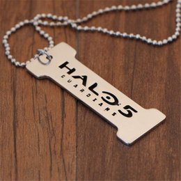 Discount halo games - Halo 5 Game Jewelry Stainless Steel Pendant Necklaces & Key Chain Necklace Keychain For Gift Hot Sale
