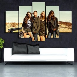 beautiful homes paint pictures NZ - 5 Panels Framed Wall Art Pictures Print On Canvas Painting For Home Kitchen Decoration theme -- Beautiful picture#042