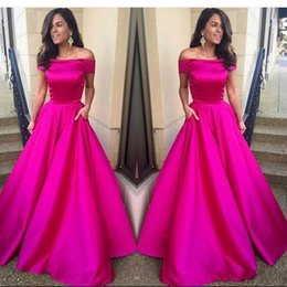 Barato Manga Comprida Vestido De Noite Prom-Hot Fuchsia Cap Sleeve Prom Dresses Long A Line Night Gown New Arrival Custom Made Party Prom Dresses Evening Wear