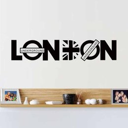 Wall Stickers London NZ - Cool Graphics Vinyl Wall Stickers The City Of Dream London Britpop Home Decoration Wall Decals Art Quote Poster