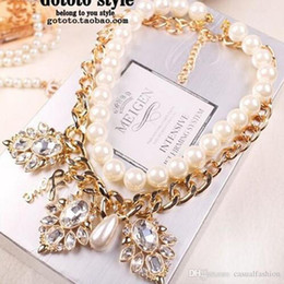 $enCountryForm.capitalKeyWord Australia - Hot Sale Shining Pearl Diamond Necklace Pendant Clavicle Bridal Jewelry Necklace For Wedding Party Bridal Jewelry For Girlfriend Best Gift
