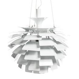 Vente en gros 50CM Aluminium luz Pendente Lampe Moderne DesignsArtichoke Pendentif Lumières pour La Maison Poul Henningsen PH 110V 220V