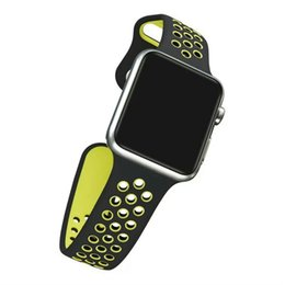 Double banD watch bracelet online shopping - 2017 Sport Double Colors WatchBand colors Available WatchBand For Apple Watch Strap Split Silicone Wrist Band Strap For apple watch