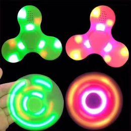 $enCountryForm.capitalKeyWord NZ - New Led Bluetooth Music Fidget Cube Spinner Finger Hand Spinner EDC Hand Tri Spinner HandSpinner EDC Toy For Decompression